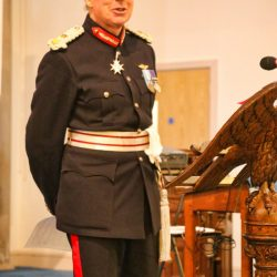 Lord Lieutenant Speaking At The Service
